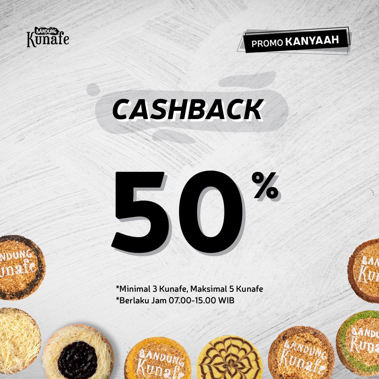 Promo Kanyaah Cashback 50%